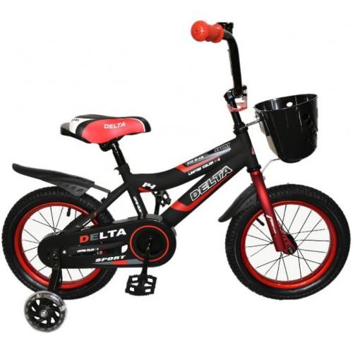 Велосипед Delta Sport 14 (черный/красный, 2020)