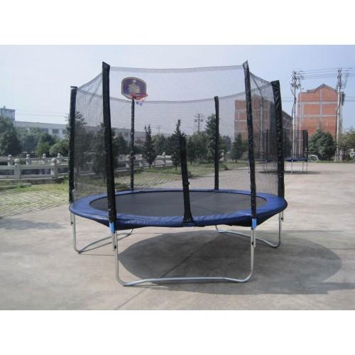Батут Funfit (Фанфит) 252 см - 8ft с баскетбольным кольцом, сеткой и лестницей