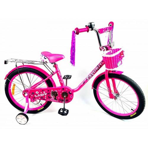 """Велосипед Favorit Lady 20"""" (розовый, 2020)"""