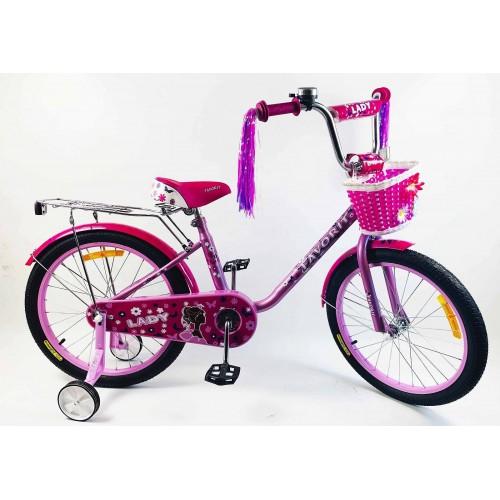 """Велосипед Favorit Lady 20MG"""" (малиновый/фиолетовый, 2020)"""