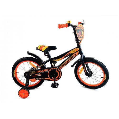 """Велосипед Favorit Biker 16"""" (черно-оранжевый,2018)"""