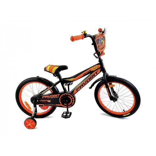 """Велосипед Favorit Biker 18"""" (черно-оранжевый,2018)"""