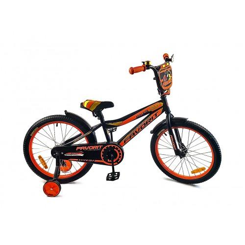 """Велосипед Favorit Biker 20"""" (черно-оранжевый,2018)"""