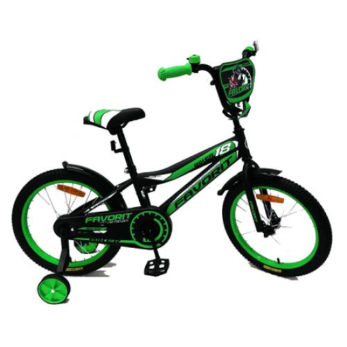 """Велосипед Favorit Biker 18"""" (черно-зеленый,2018)"""