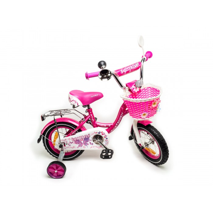 """Велосипед Favorit Butterfly 12"""" (розовый/бирюзовый, 2020) купить в Минске"""