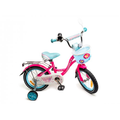"""Велосипед Favorit Butterfly 16"""" (розовый/бирюзовый, 2020)"""