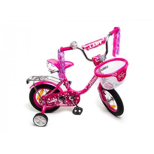 """Велосипед Favorit Lady 12MG"""" (розовый/фиолетовый, 2019)"""