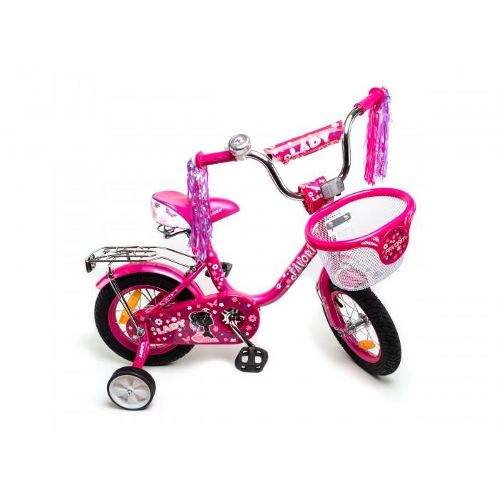 """Велосипед Favorit Lady 12"""" (розовый/фиолетовый, 2019) купить в Минске"""