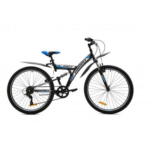 """Велосипед Favorit Jumper V 26"""" (серый/синий, 2020)"""