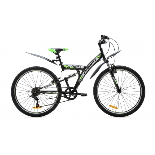 "Велосипед Favorit Jumper V 26"" (серый/зеленый, 2020)"