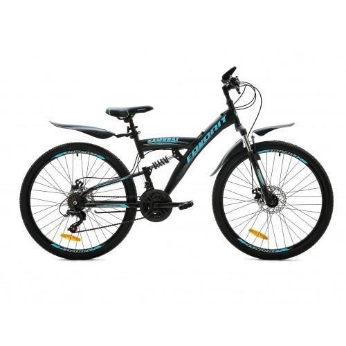 """Велосипед Favorit Samurai MD 26"""" (черный/синий, 2020)"""