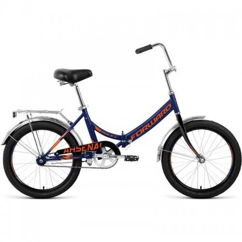 """Велосипед Forward Arsenal 1.0 20"""" (темно-синий/оранжевый, 2020)"""